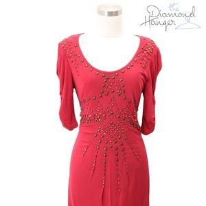 A02 NANETTE LEPORE Designer Dress Size 8 Medium Pi